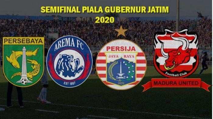 Jadwal Lengkap Semifinal Piala Gubernur Jatim, Persebaya vs Arema FC dan Persija vs Madura United