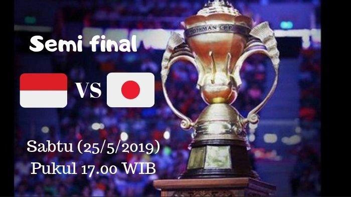 Semifinal Indonesia vs Jepang Mulai Pukul 17.00 WIB, Berikut Line Up Pemain, Marcus/Kevin Pembuka