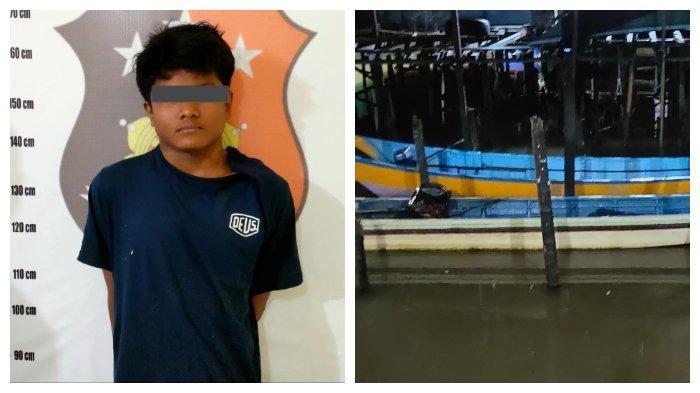 Curi Perahu di Sanga Sanga Kukar, Pemuda Asal Samarinda Ini Ditangkap Warga