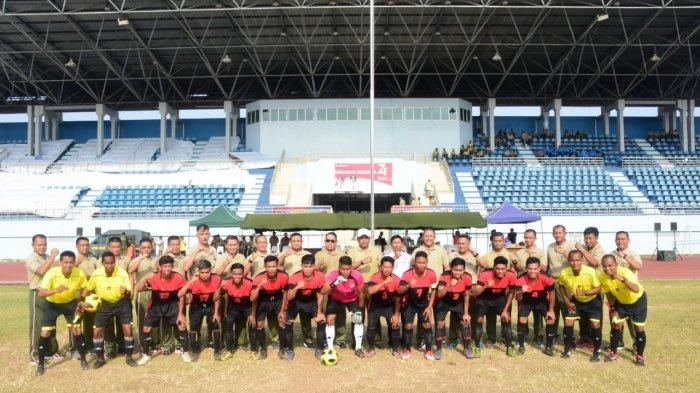 Danrem 091/Aji Surya Natakesuma Cup Bergulir, Turnamen Sepak Bola Diikuti 8 Kesebelasan