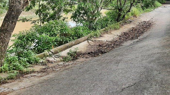 Jalan Amblas di Sepinggan Baru RT 1 Belum Dibenahi, Ketua RT Sindir Pemborong: Tunggu Ada Kecelakaan