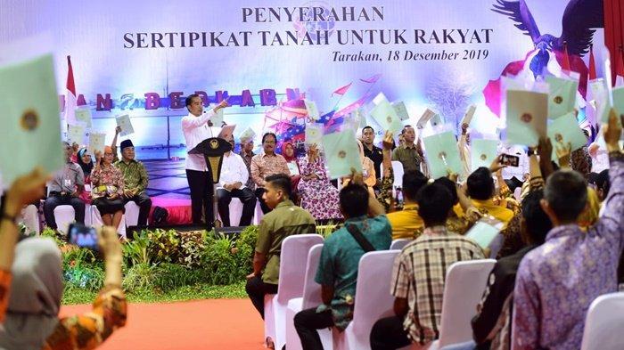 Datang ke Tarakan Presiden Jokowi Serahkan Seribu Sertifikat Hak Atas Tanah untuk Rakyat di Kaltara