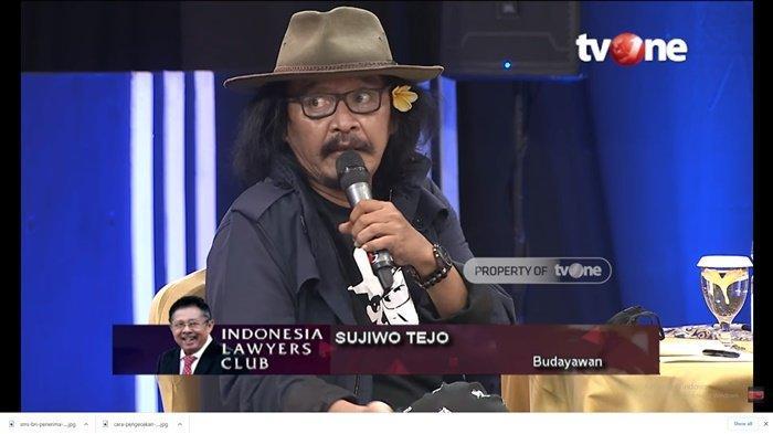 SERU, ILC Tadi Malam Bahas Setahun Jokowi-Maruf, Sujiwo Tejo: Saya Bersyukur Karni Ilyas Masih Hidup