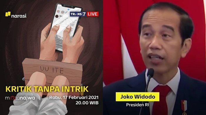Serunya Mata Najwa Malam Ini Bahas Jokowi dan UU ITE, Live Streaming Trans 7