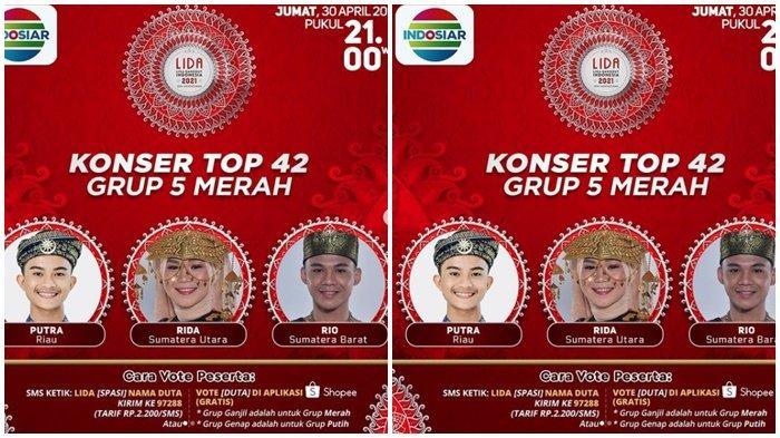 Siapa Tersenggol Malam Ini? Siapa Dapat SO? LIDA 2021 Top 42 Grup 5 Merah, Live Streaming Indosiar