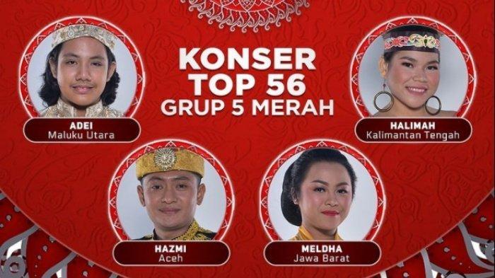 Siapa yang akan Tersenggol? Top 56 LIDA 2021 Grup 5 Merah, Live Indosiar Malam Ini, Ada Selfi LIDA?