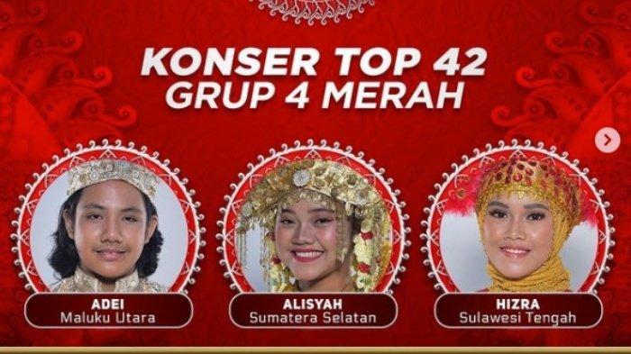 Siapa yang Tersenggol Tadi Malam? Hasil Top 42 LIDA 2021 Grup 4 Merah Adei, Hizra & Alisyah Dapat SO