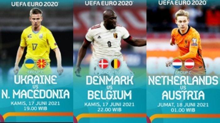 Jadwal Siaran Langsung EURO 2020 Malam Ini, 3 Laga Seru di Grup B dan C, Live Streaming RCTI
