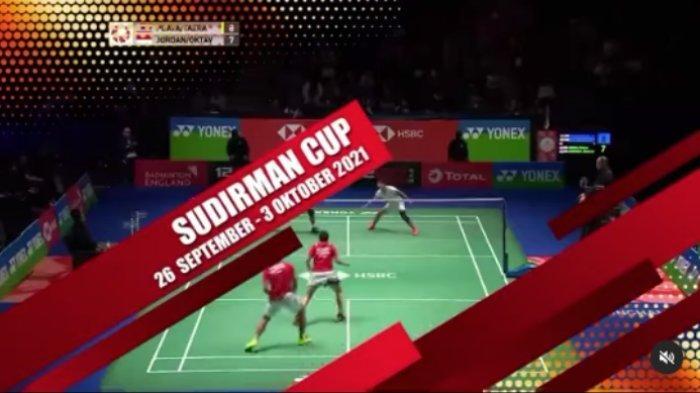 Siaran Langsung Sudirman Cup 2021 Hari Ini Live TVRI, Streaming Vidio.com, Champions TV dan USeeTV