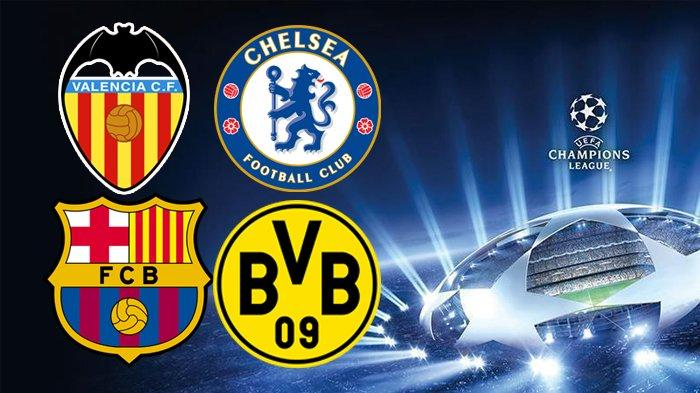 Live SCTV! Siaran Langsung UEFA Liga Champions Malam Ini Valencia vs Chelsea, Barcelona vs Dortmund