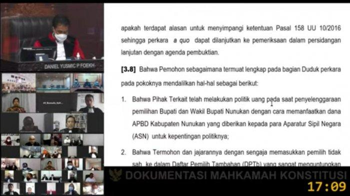 Pembacaan Putusan Dismissal di MK, Parpol Pengusung Calon Bupati Nunukan Incumbent Katakan Ini