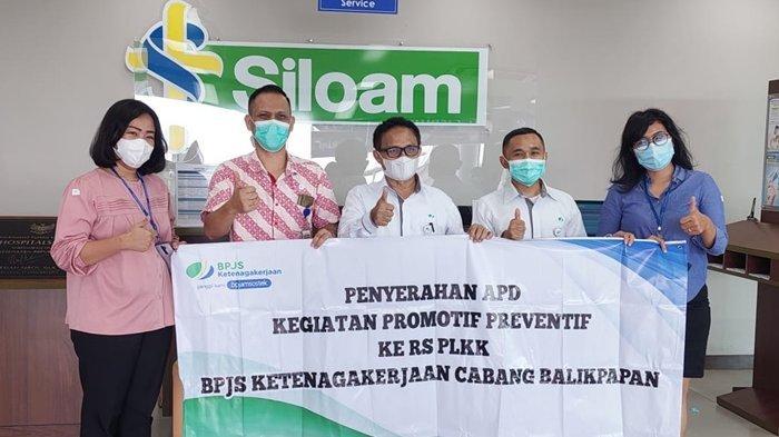 BPJamsostek Cabang Balikpapan Lakukan Kegiatan Promotif dan Preventif, Serahkan Bantuan APD di 3 RS