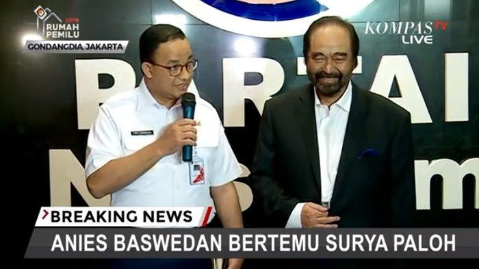 EKSPRESI dan Jawaban Anies Baswedan saat Didukung Surya Paloh jadi Capres 2024