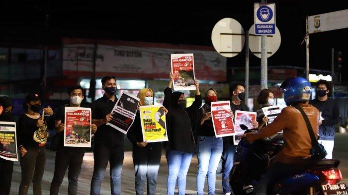 Jurnalis di Bontang Kalimantan Timur Gelar Aksi Damai, Solidaritas untuk Nurhadi