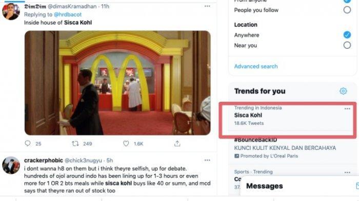 Sisca Kohl jadi trending topic Twitter