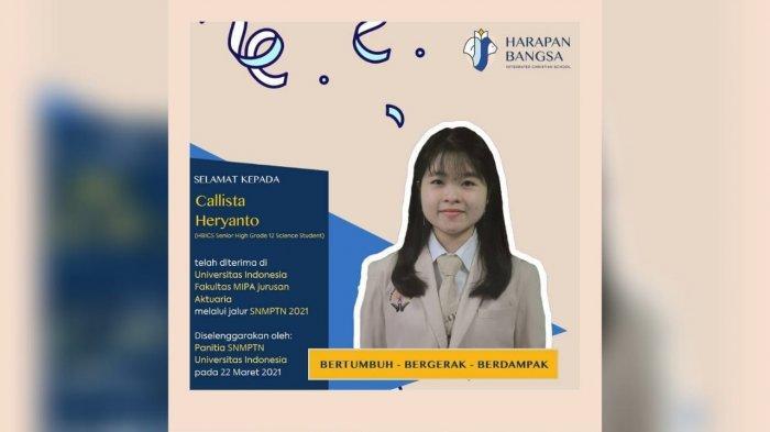 Lagi, Siswa SMAK Harapan Bangsa Balikpapan Tembus Universitas Indonesia