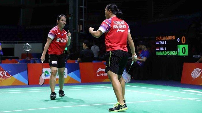 Hasil Badminton Asia Team Championships 2020 Indonesia vs Thailand 2-3, Tim Putri Runner Up Grup