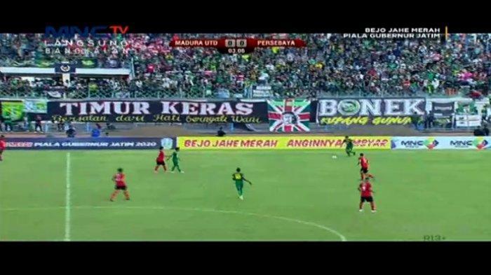 SKOR 0-0 BERLANGSUNG Live Streaming Madura United vs Persebaya Surabaya, Live RCTI Plus dan MNC TV