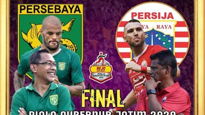 SKOR 0-0 BERLANGSUNG Live Streaming Persebaya vs Persija Final Piala Gubernur Jatim RCTI+ dan MNC TV