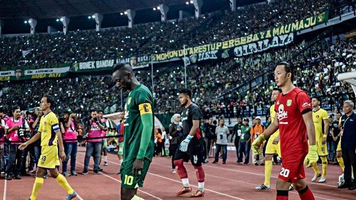 Hasil Liga 1 2020, Persebaya Tertunduk Lesu Dipermalukan Persipura, Drama 7 Gol di Markas Bonek
