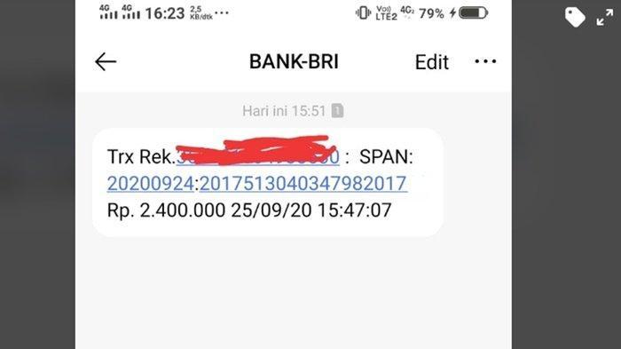 SMS dari BRI untuk Penerima Bantuan UMKM Rp 2,4 Juta, Pendaftaran Banpres Produktif Masih Dibuka