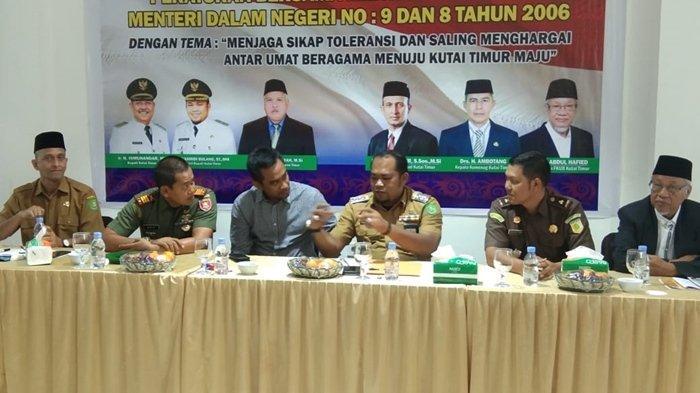 Forum Komunikasi antar Umat Beragama Kumpulkan Tokoh Agama se- Kutai Timur, Sosialisasi Rumah Ibadah