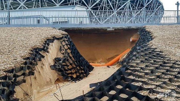 Stadion Piala Dunia 2018 di Rusia Longsor Usai Hujan Lebat Mengguyur