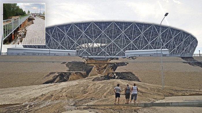 Nasib Dua Stadion Megah di Rusia Berangsur Rusak Akibat Diterpa Hujan Deras Usai Piala Dunia 2018