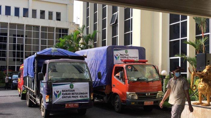 Pemkab Kukar Salurkan Bantuan Sembako 2 Truk Buat Korban Banjir di Kalsel