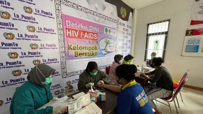 Suasana Penyuluhan dan screening (HIV-Sipillis) di Lapas Perempuan Klas IIA Tenggarong, TRIBUNKALTIM.CO, ARIS JONI