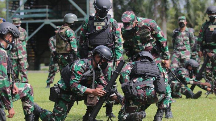 Suasana persiapan jelang latihan tempur bersama US Army di Mako Batalyon Infanteri Raider 600 Modang, Rabu (21/7/2021). TRIBUNKALTIM.CO/DWI ARDIANTO