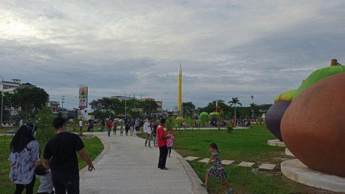 Dibuka Lebih Cepat, Taman Baru Tepian Samarinda Mulai Dikunjungi Warga
