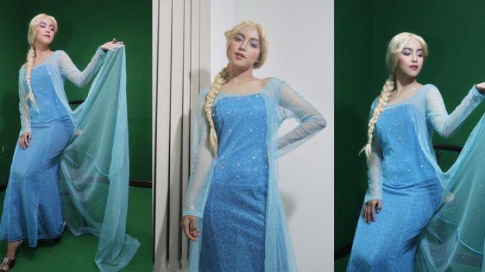 Euforia Frozen 2, Suffa Heriyani Cosplayer Cantik Balikpapan Ingin Nonton Pakai Kostum Princess Elsa