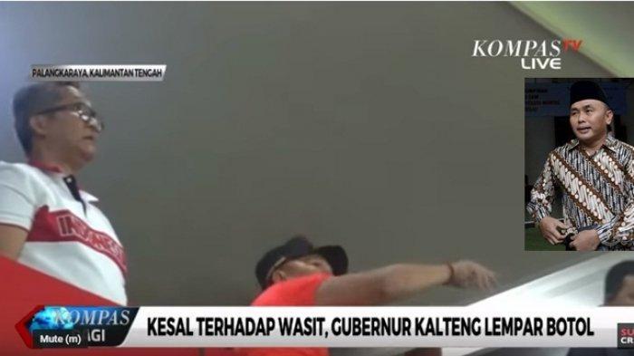 INI Gubernur Kalteng yang Diduga Lempar Botol di Laga Kalteng Putra vs Persib, Eks Ussy Sulistiawaty