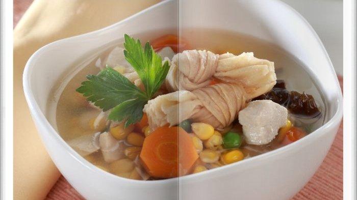 Cara Bikin Sup Jagung Ayam Jamur Super Enak, Jadi Menu Makan Siang yang Menyegarkan