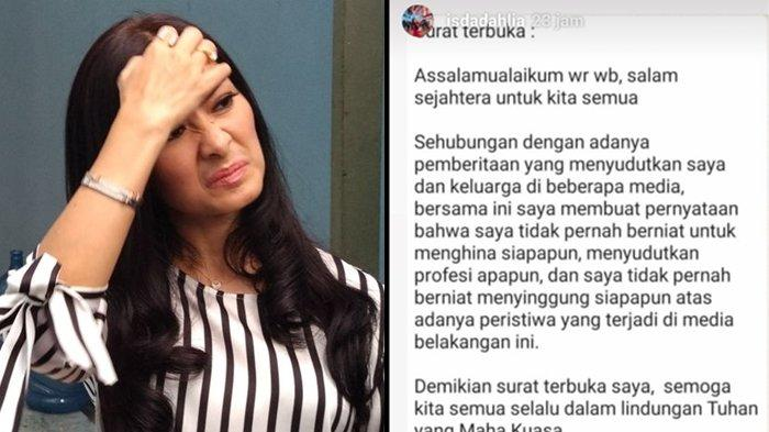 SURAT TERBUKA Iis Dahlia Terkait Sindiran Ojol, Gegara Satrio Dewandono Dikaitkan Kasus Dirut Garuda