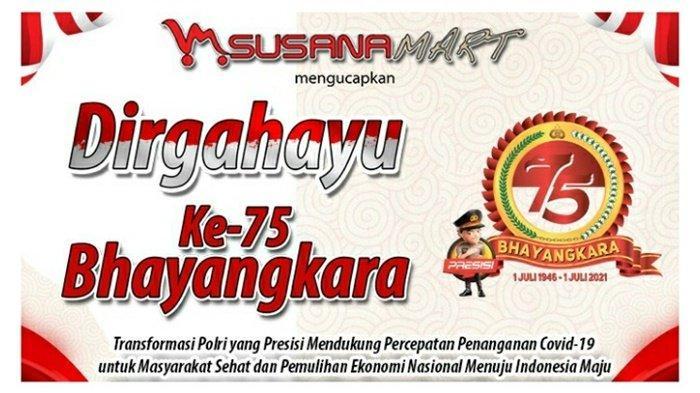 Susana Mart Ucapkan Selamat Hari Ulang Tahun ke-75 Bhayangkara