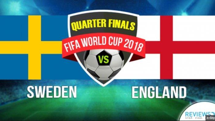 Jadwal Perempat Final Piala Dunia 2018 Malam Ini, Swedia, Inggris, Rusia, dan Kroasia Berlaga