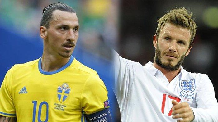 Beckham Menang Taruhan, Ibrahimovic Ucapkan Selamat dan Penuhi Janjinya Tonton Inggris di Wembley