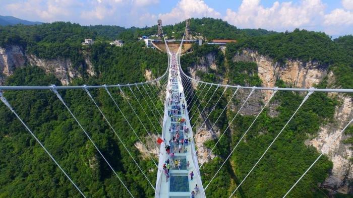 Zhangjiajie Glass Bridge, China.