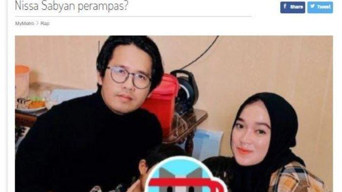 Tak hanya dibicarakan di Tanah Air, kabar kedekatan Nissa Sabyan dan Ayus Sabyan juga santer terdengar sampai ke Negeri Jiran, Malaysia.