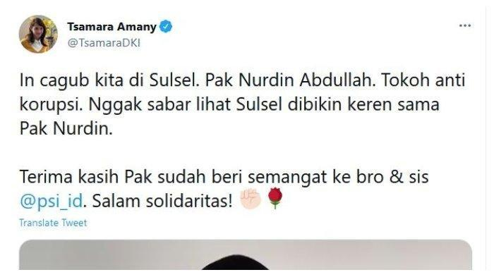 Heboh! Saat Gubernur Sulsel Nurdin Abdullah Ditangkap KPK, Cuitan Tsamara Amany 3 Tahun Lalu Viral