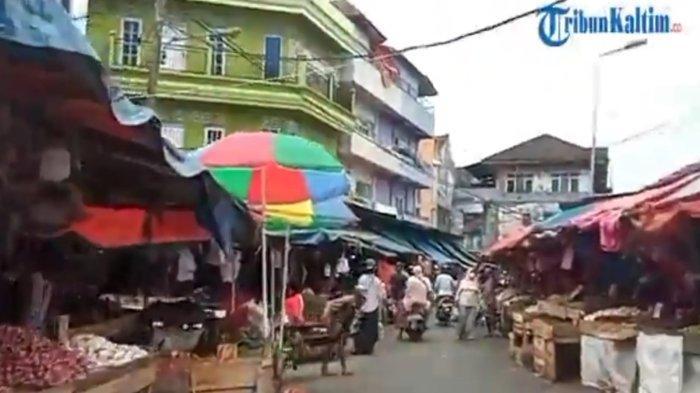 Pasca Penertiban PKL Liar di Pasar Pandansari Balikpapan, Pedagang di Jalan Raya dan Gang Berseteru