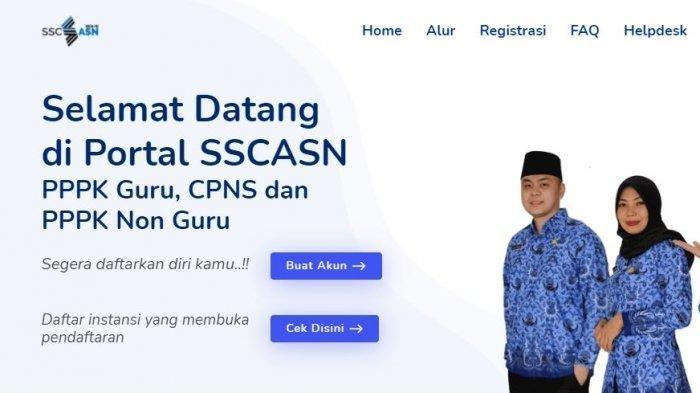 Ilustrasi tangkapan layar sscasn.bkn.go.id, Selasa hari ini bakal ada pengumuman penting dari BKN soal seleksi CPNS dan PPPK 2021