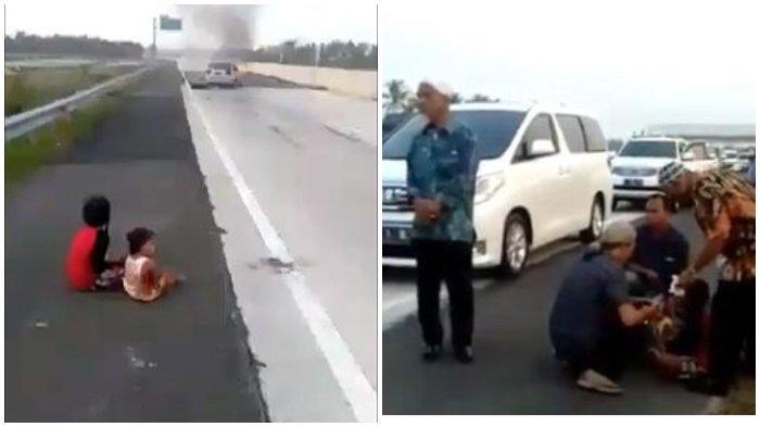 Viral Dua Bocah Berlumur Darah Menangis di Tol Lampung, Selamat dari Kecelakaan, Takut Ditinggal