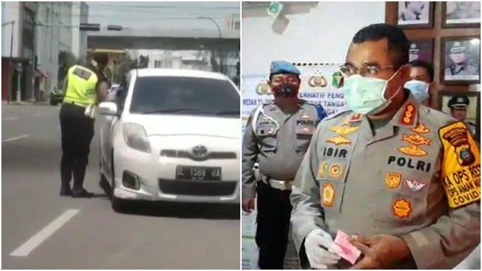 DIREKAM & VIRAL, Detik-detik Polisi Pungli lalu Ludahi Pengendara Mobil di Medan, Begini Nasibnya