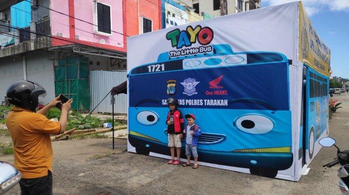 Selama Operasi Lilin Kayan 2019 Polres Tarakan Kerahkan Tayo The Little Bus Tribun Kaltim