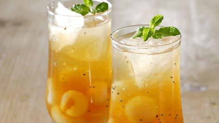 Resep Ice Tea Longan Jeli Segar, Hadirkan Sensasi Rasa Es Teh yang Tak Biasa