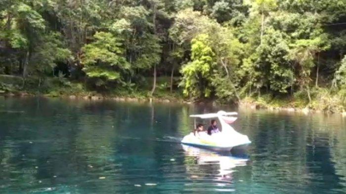Wisata Alam di Berau, Pengelola Objek Telaga Biru Batasi Pengunjung, Sedia Wahana Perahu Bebek