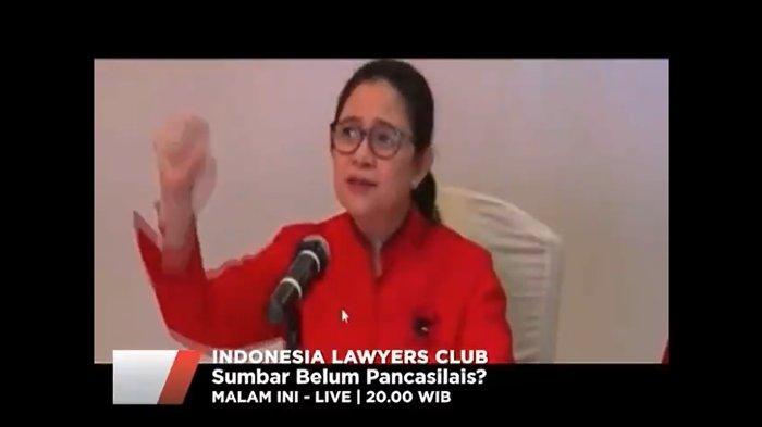 Tema ILC TV One Malam Ini: Sumbar Belum Pancasilais?, Karni Ilyas Bahas  Pernyataan Puan Maharani - Halaman 3 - Tribun Kaltim